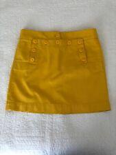 J. Crew Chino Skirt - Yellow, Size 4 Small