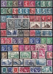 France 1924-37 small collection of used stamps