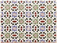 """6 Spanische Musterfliesen """"Petunia"""" für Mosaik, 2te Wahl, ca. 42 x 56 cm"""