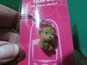 NEW/sealed in pkg CLAIRE's Cell Phone Charm fuzzy brown monkey