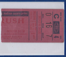 Rush December 2 1982 Madison Square Garden Concert Ticket Stub