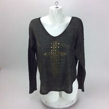 love culture sweater Black & Gold  Cross Emblishment   Size Medium
