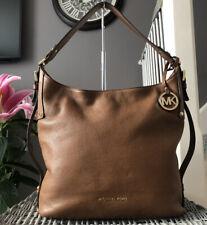 MICHAEL KORS Tan Pebbled Leather 'BEDFORD' Hobo Shoulder Bag Handbag
