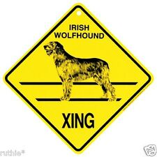 Irish Wolfhound Dog Crossing Xing Sign New