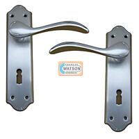 CARLISLE BRASS DL190SC Madrid Lever Lock Handle Door Short Backplate S C