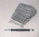 """1000 4"""" 100mm METAL WIRE GARDEN SACK TIES + TYING TOOL"""