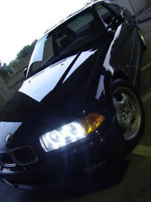 DEPO UHP LED Angel Halo Projector GLASS Headlight + Xenon HID For 92-99 BMW E36