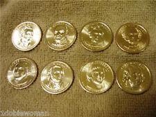 2007- 2008 P PRESIDENTIAL DOLLAR COINS  8 COINS  PHILADELPHIA