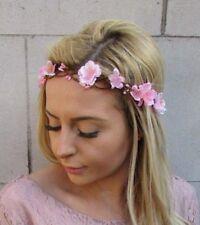 Blush Light Pink Cherry Blossom Sakura Flower Headband Hair Crown Bridal 5453