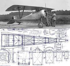 Nieuport-17-N-17 WWI Biplane technical drawing blueprint plans archive set