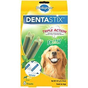 PEDIGREE DENTASTIX Dental Dog Treats for Large Dogs Fresh Flavor Dental Bones