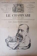 SATIRIQUE PAMPHLET POLITIQUE LE CHARIVARI de 1904 CARICATURE BUISSON OGRE