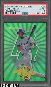 1997 Donruss Update Power Alley Derek Jeter New York Yankees HOF /4000 PSA 9