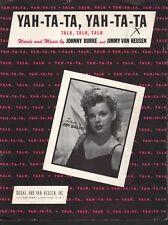 Yah Ta Ta Yah Ta Ta 1945 Judy Garland Sheet Music