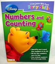 Disney Pooh Early Skills Workbook Numbers Counting Homeschool Daycare New