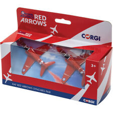 Corgi RAF Red Arrows Synchro Pair Die-Cast BAE Hawk T1 Two Plane Pack - CS90687