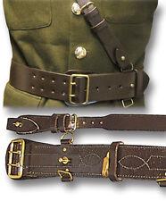 SAM BROWNE LEATHER BELT & CROSS STRAP, BRITISH ARMY OFFICERS, BRN or BLK [14090]