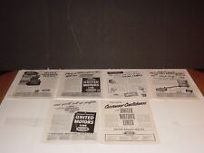 UNITED MOTORS SERVICE DIST. 7 PAGES PRINT ADS ORIGINAL MOTOR MAGAZINE 1947 -1958