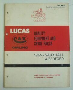 LUCAS VAUXHALL & BEDFORD Spares List 1965  #904/65 VICTOR Velox CRESTA VX4/90 ++