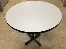 "10 Grey mesh laminate table top with black edging, 36"" diameter, base not includ"