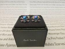 PAUL SMITH Cufflink Mens Rainbow Blue Skull & Crossbones Cufflinks BNIB R£85