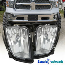 For 2013-2018 Dodge Ram 1500 Bumper Driving Lamps Fog Lights w/ Switch