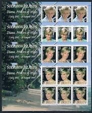 Solomon Is 2007 Diana Commemoration 4v COMPLETE SHEETS SG1228/31 MNH
