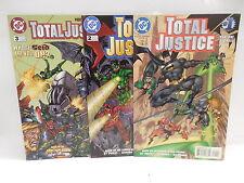 Total Justice Dc Comic Books 1-3 Batman Green Lantern Flash Kenner Action Figure
