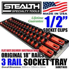 "STEALTH 3 x 18"" Rail Socket Storage 1/2"" Twist Lock System Tray Made in USA"
