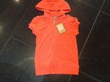 NWT Juicy Couture & Signore Piccole Cotone Arancio Felpa con cappuccio Con Logo