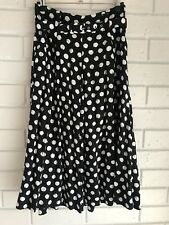 Vintage Target polka dot skirt size 10 with belt 90s