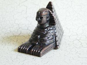Egypt Pyramids & Sphinx Pencil Sharpener - Bronze Color Metal - Souvenir