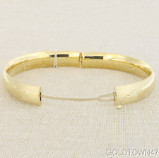 """14k Yellow Gold 6.0mm Florentine Round Dome Classic Bangle with Clasp 7"""" or 8"""""""