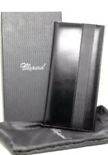 "Chopard 95-7056 Black Leather Rubber 72 Business Card Holder Long 4.75""x10"""