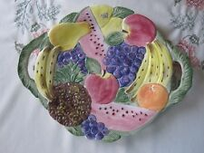 Fitz/Floyd Calypso Fruit Serving Plate with Handles