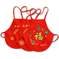 Kids Underwear Chinese Style Red Cotton Belly Pockets Apron For Newborn Babies J