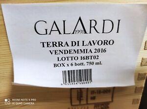 3 bottiglie TERRA DI LAVORO 2016, GALARDI