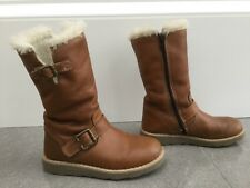 John Lewis Girls Leather Boots Size EU 31 / UK 12.5
