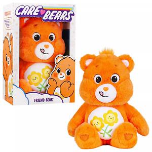 "CARE BEARS Orange FRIEND BEAR Sunflowers 14"" PLUSH 2021 NEW!!"