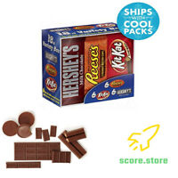 Variety Box of Candy Bars (HERSHEY'S Milk Chocolate, KIT KAT, REESE'S Cups)
