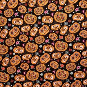 0.5 metre Pumpkins Digital Cotton 100% Cotton Fabric 140cm wide
