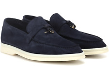 LORO PIANA Loafers Summer Charms Walk Wildleder Schuhe Slippers Suede Shoes 38
