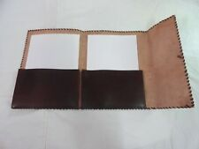 Vintage Leather Portfolio File Folder Meeting Organizer carry A4 Size Paper