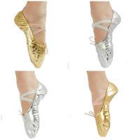 Girls Womens Children Ballet Dance Shoes Slippers Pointe Gymnastics Shoes