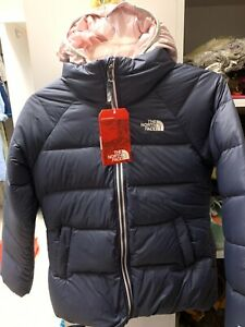 The North Face Girls Double Down TriClimate Jacket Periscope Grey Pink Size M
