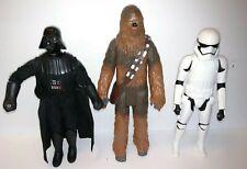 "Vintage Star War Figure Lot of 3 Chewbacca 13"" Storm Trooper 12"" Darth Vader 12"""