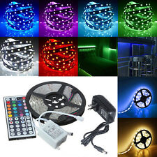 12V Luz RGB 5050 LED 5M 44 llave infrarrojo mando distancia completo Power Kit