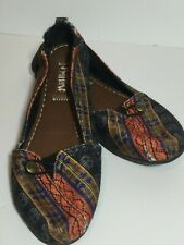 Mad Love Steve Madden Ballet Slippers Shoes Textile Fabric Aztec Size 5/6 BOHO