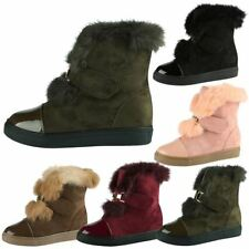 Fur Synthetic Ankle Boots for Women