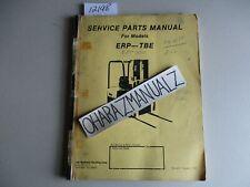 YALE Forklift ERP-TBE Service Parts Manual